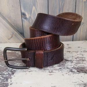 Eddie Bauer Brown Leather Belt Size 44